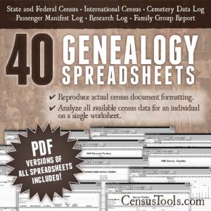 CensusTools Genealogy Spreadsheets