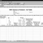 CensusTools 1841 Ireland Census Template