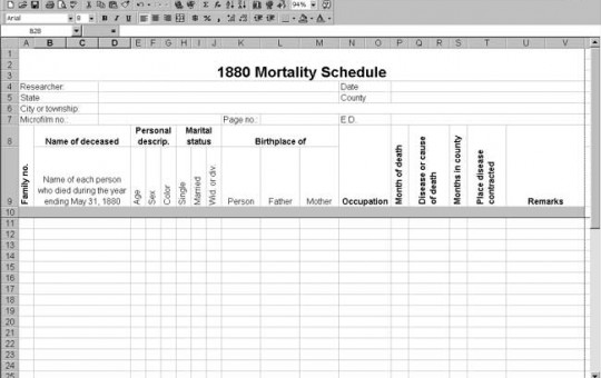 1880 US Mortality Schedule Template