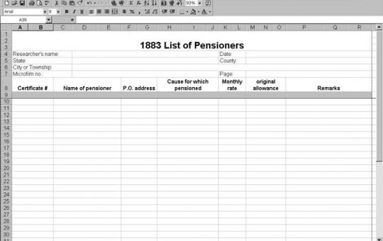 1883 US List of Pensioners Template