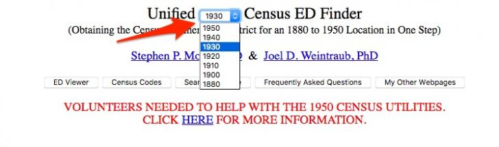 Unified Census ED Finder