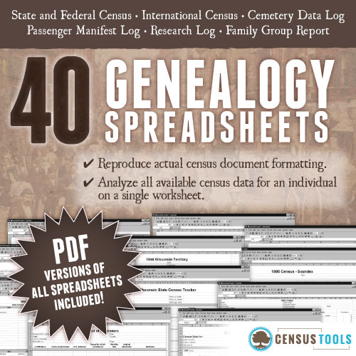 censustools spreadsheets for census data censustools